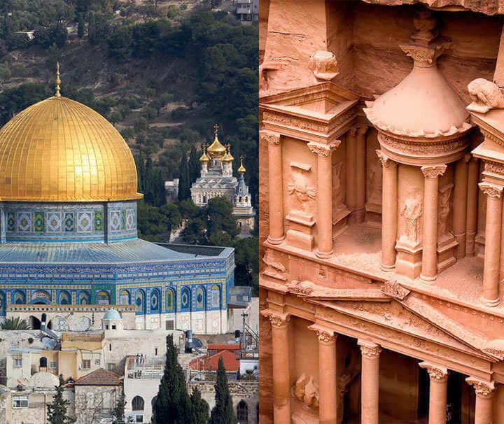 circuit combiné jordanie jérusalem